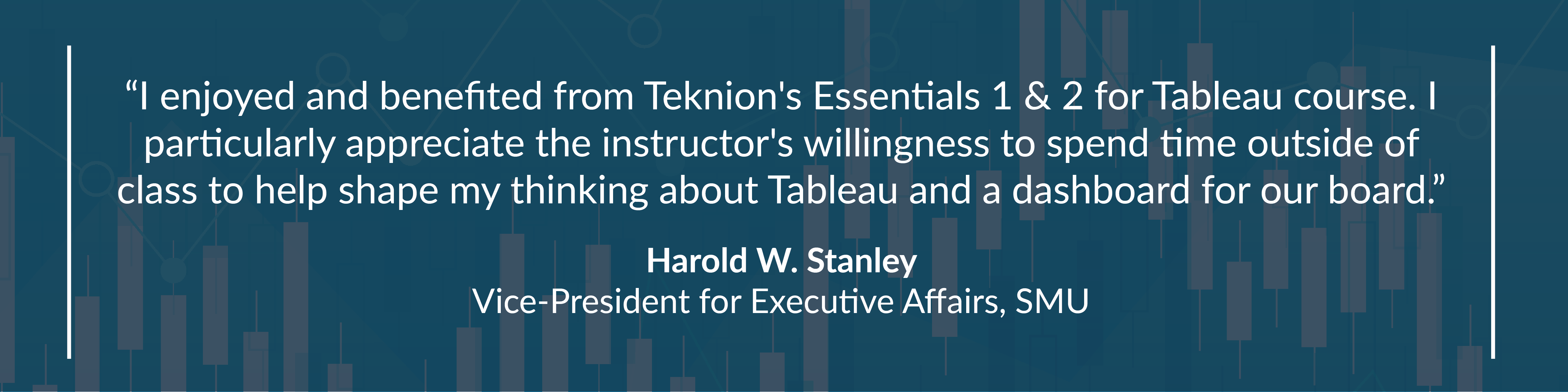 Essentials 1 &2 for Tableau SMU Quote with Background