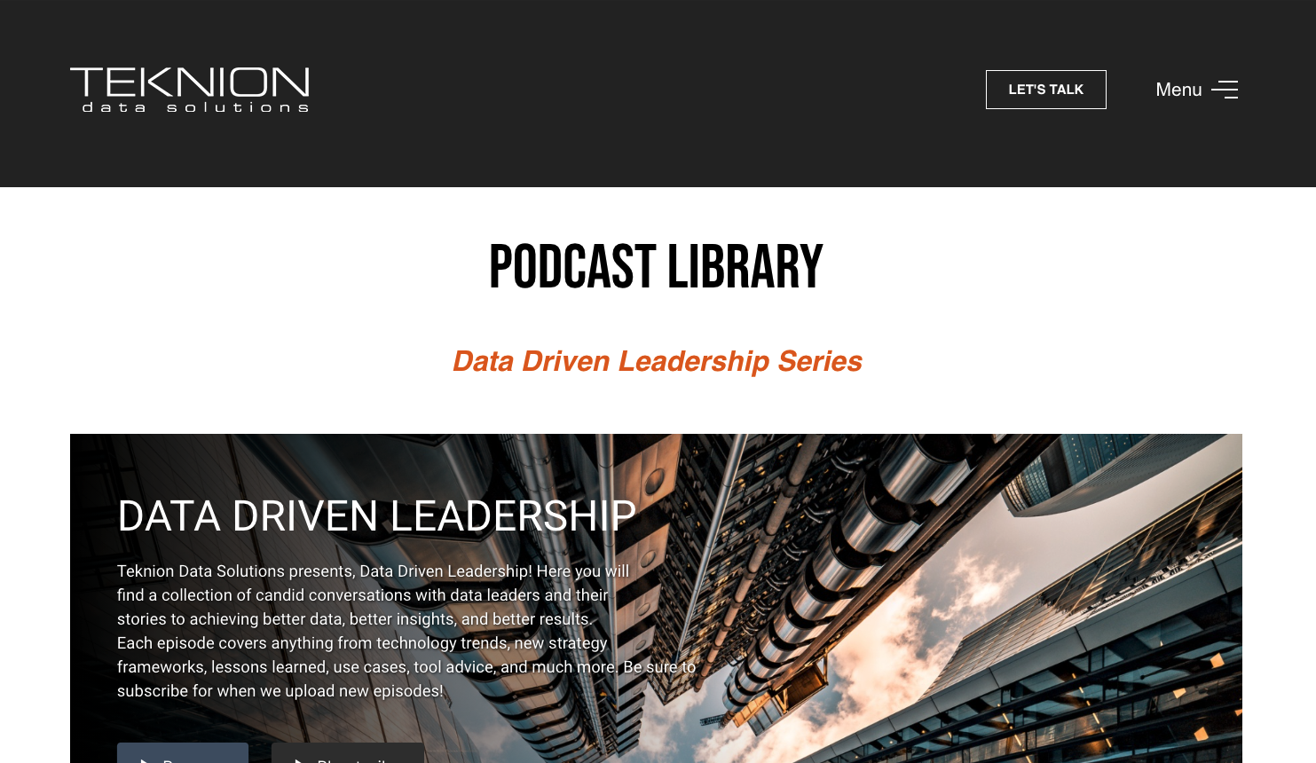 Podcast Library Page
