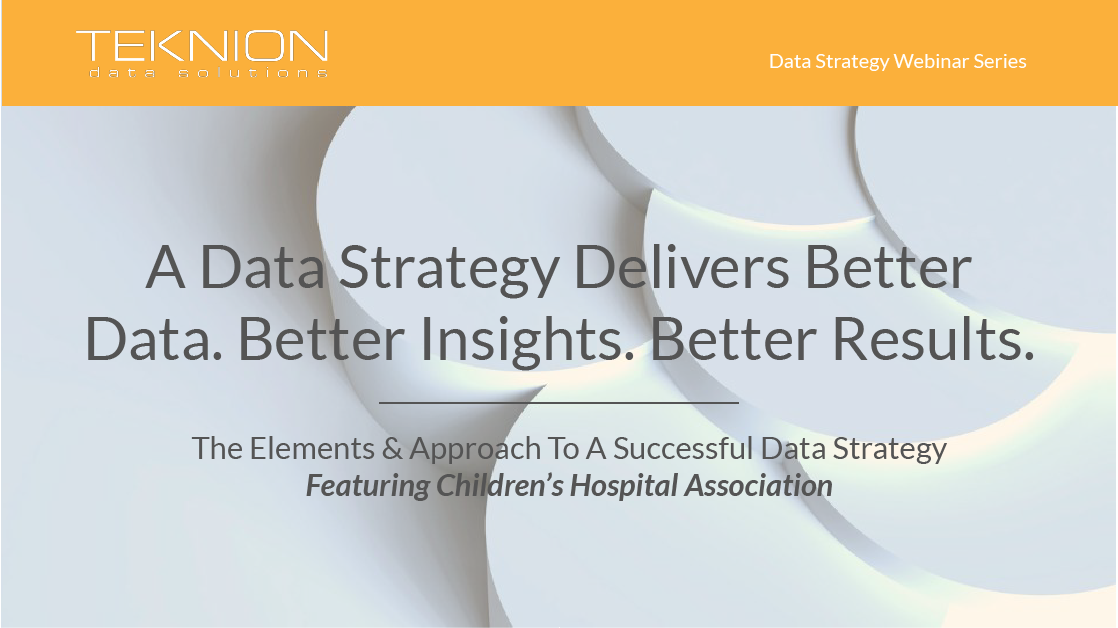 Strategy - A Data Strategy Delivers Better Data. Better Insights. Better Results. Final