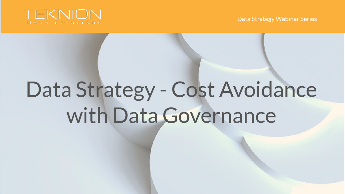 Strategy - Cost Avoidance with Data Governance