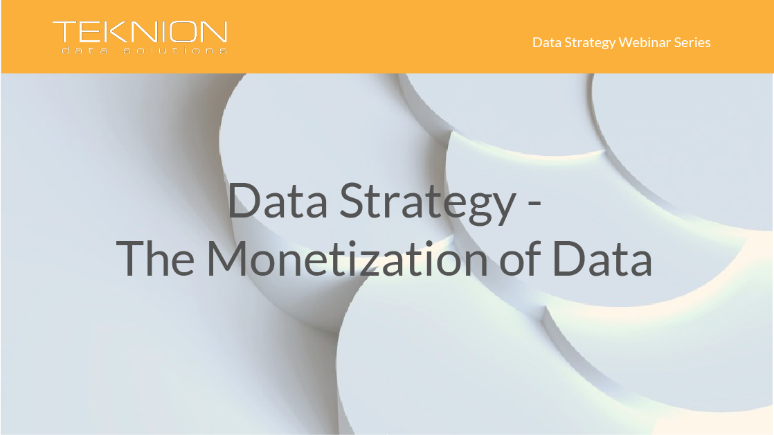 Strategy - The Monetization of Data