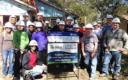 Teknion Data Solutions group serving the community with Habitat for Hummanity
