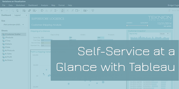 Self-Service at a Glance with Tableau