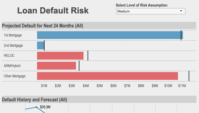 Screenshot of the Risk of Default Viz