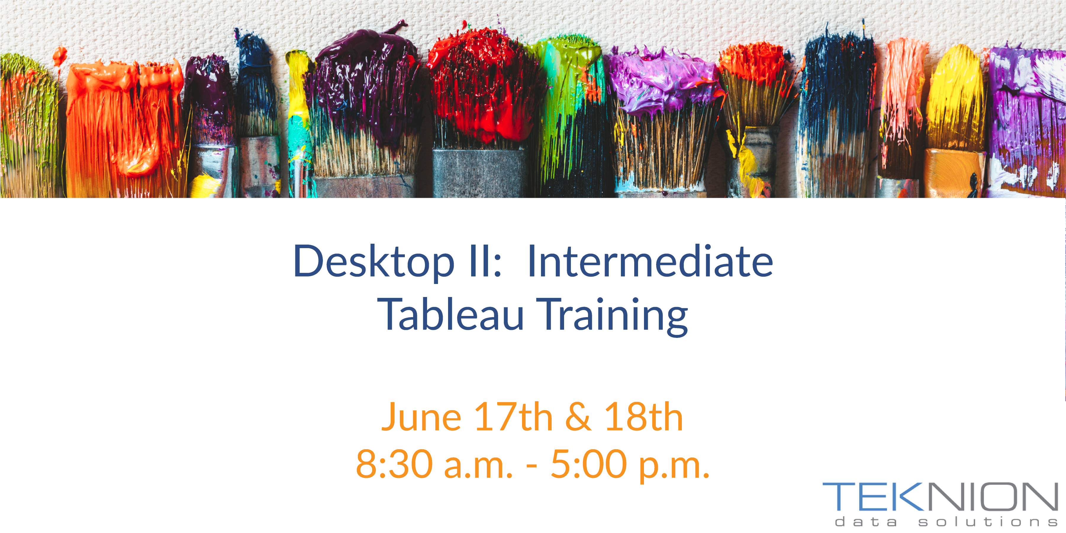 Training: Tableau Desktop II - Intermediate