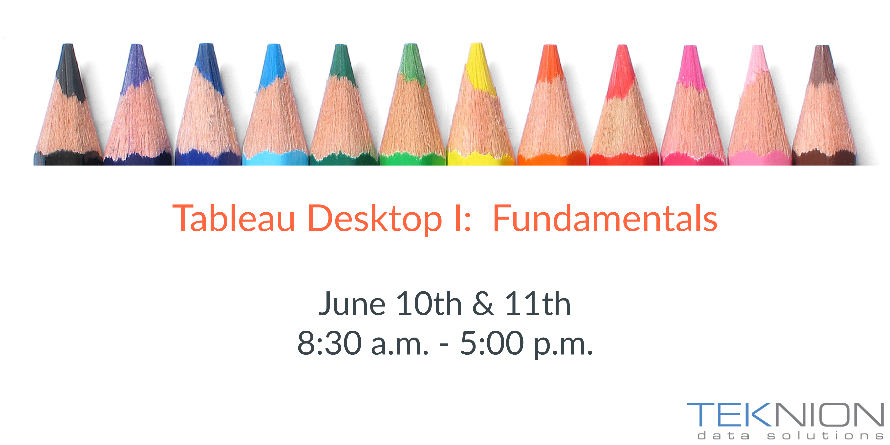 Training: Tableau Desktop I - Fundamentals
