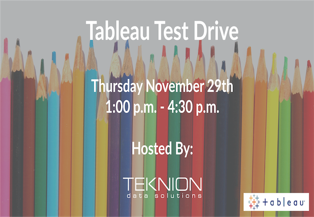 Event: Tableau Test Drive